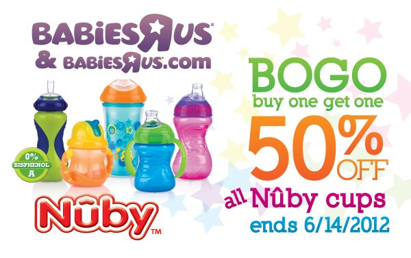 Nuby Sippy Cups Buy One Get One 50 Off At Babies R Us