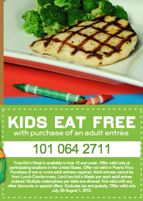 photo about Chilis Printable Coupon identified as Children Take in Free of charge at Chilis! 7/30-8/1 (Printable/Cell Coupon