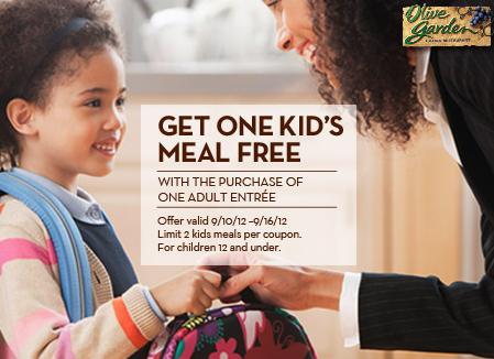 olive garden kids meal