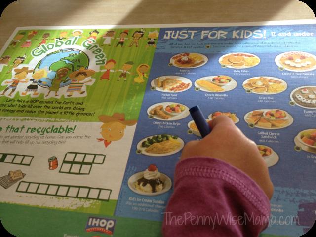 ihop kids menu