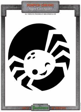frankenweenie spider stencil