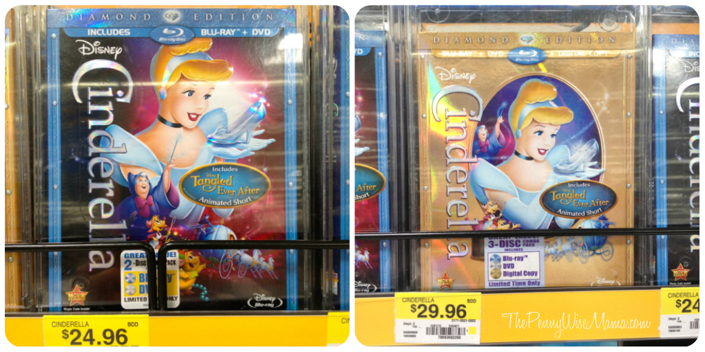 cinderella diamond edition blu-ray dvd