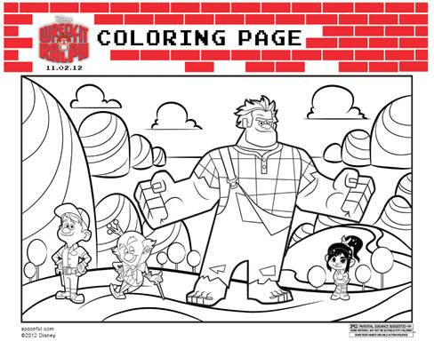 Disney's Wreck-It Ralph Printable Coloring Sheets