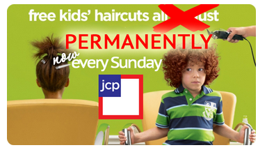 jcpenney free kids haircuts