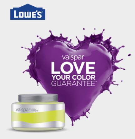 Lowe's: Free Valspar 8 oz Paint Sample! - The PennyWiseMama