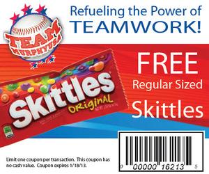 free skittles coupon
