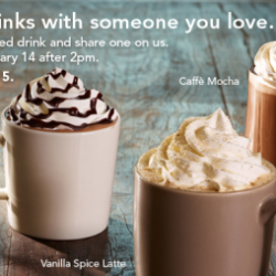 Starbucks: Buy One, Get One Free Drinks After 2 PM