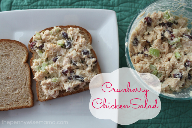easy cranberry chicken salad recipe