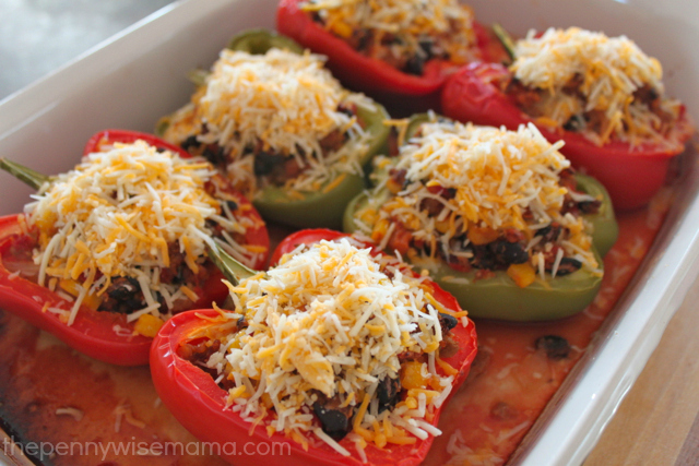 stuffed peppers with kraft fresh take southwest mix
