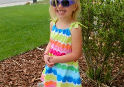 gymboree dot stripe dress