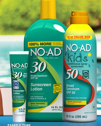 free no-ad sunscreen sample tube