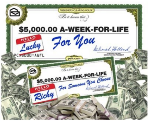 Publishers Clearing House Giveaway: Win $5,000 a Week Forever! - The