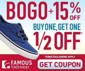 Famous Footwear Bogo 1 2 Off