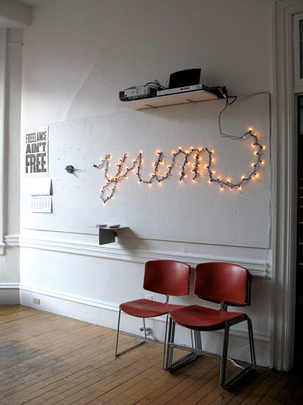 word art with light
