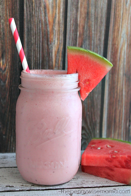 Coconut Watermelon Smoothie with Silk Almond Milk