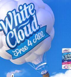 Free White Cloud Bath Tissue