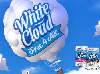 Free White Cloud Bath Tissue