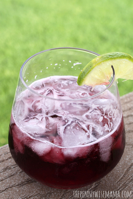 how to make a wine spritzer with red wine