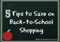 5 Tips to Save on Back-to-School Shopping