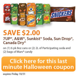 HOT Halloween Coupon: Save $2 on Candy & Soda!