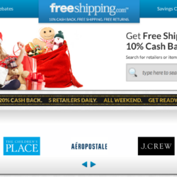 FreeShipping.com: Get 10% Cash Back + Free Shipping On All Purchases!