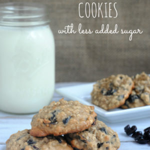Blueberry Oatmeal Cookies with Less Added Sugar #SweetSwaps