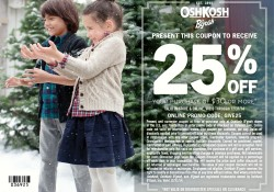 OshKosh 25% off Coupon