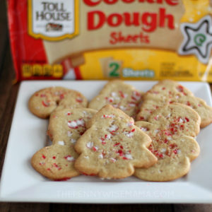 Easy Peppermint Sugar Cookies