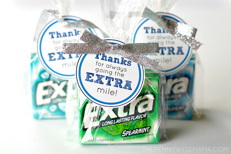 picture regarding Extra Gum Teacher Appreciation Printable titled Present Further this Holiday vacation Period - Reward Notion + Totally free Printable