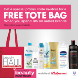 This Week's Beauty Deals at Walgreens – Dove, Suave & More + Free Tote Bag