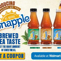 Snapple Straight Up Tea Deal at Walmart + Coupon