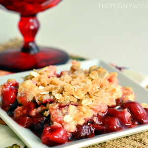 Crock Pot Cherry Cobbler