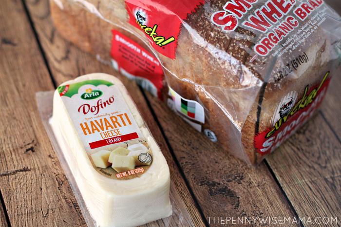 Arla Dofino Havarti Cheese & Eureka! Organic Bread