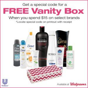Free Vanity Box at Walgreens + $25 Gift Card Giveaway