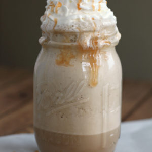 Take a Break & Re-Charge with this Frozen Caramel Macchiato