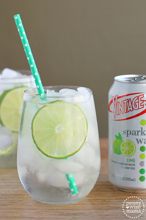 Gin rickey cocktail with vintage sparkling water the for Sparkling water mixed drinks