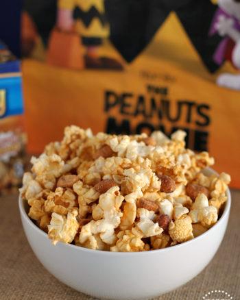 """Peanuts Popcorn"" (caramel popcorn with peanuts) - inspired by the Peanuts Movie"