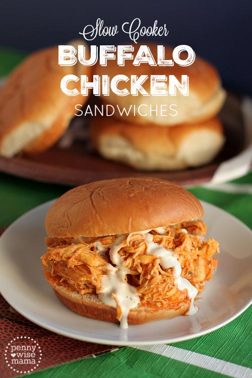 Slow Cooker Buffalo Chicken Sandwiches