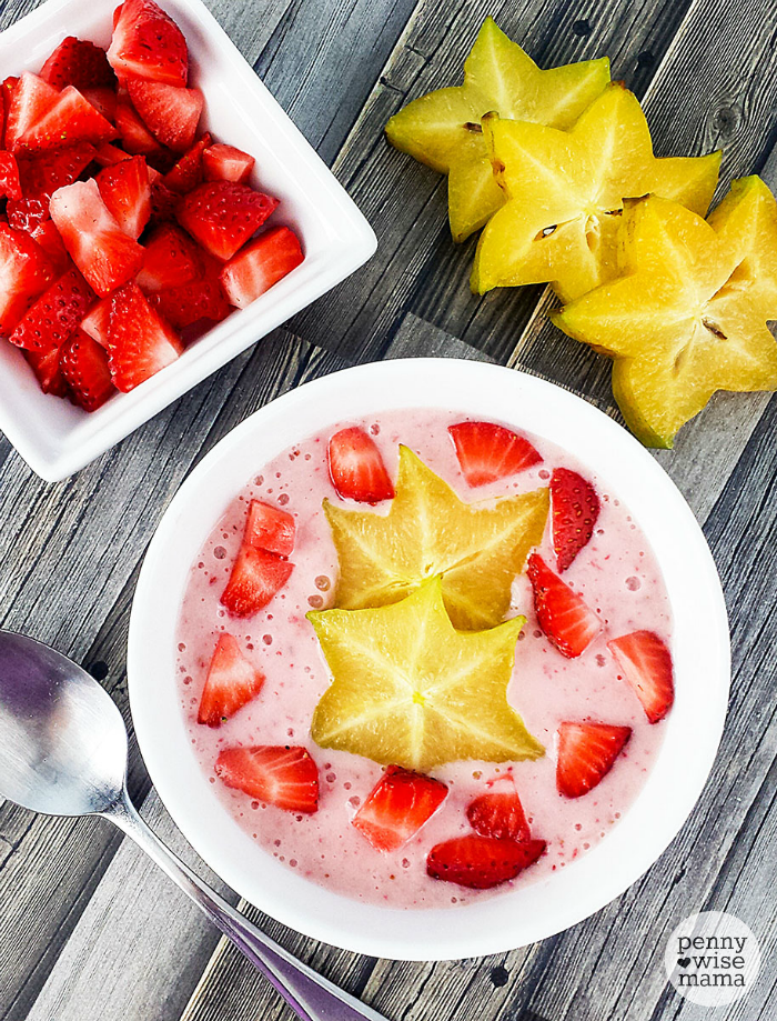 Strawberry Star Fruit Smoothie Bowl