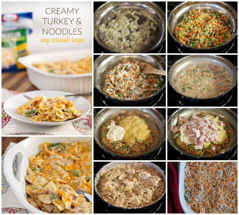 Creamy Turkey & Noodles - Delicious & Easy Casserole Recipe