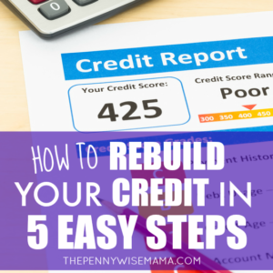 How to Rebuild Your Credit in Five Easy Steps