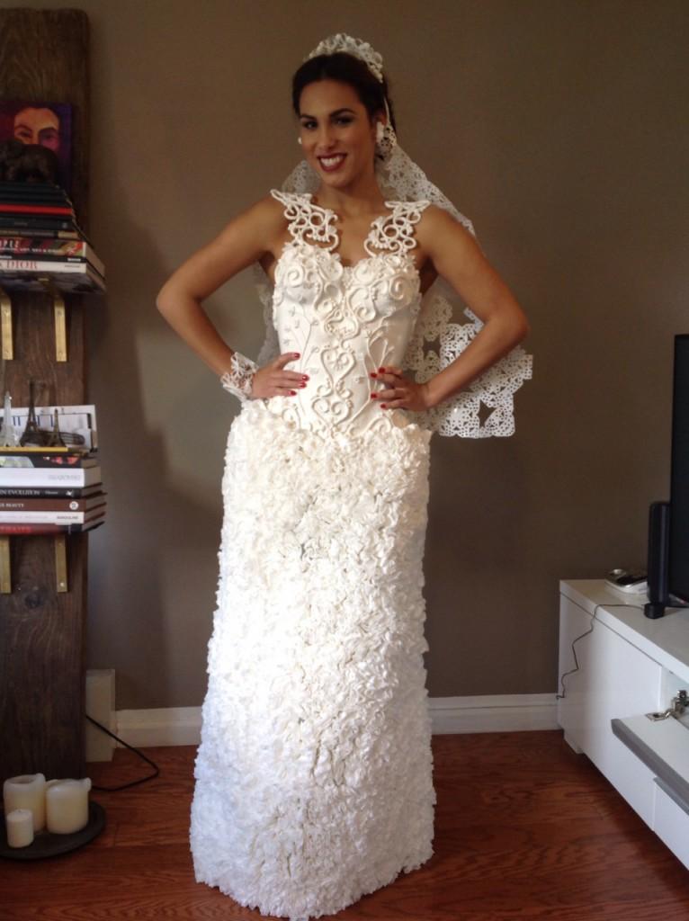 Toilet Paper Wedding Dress by Augusto Manzaneras
