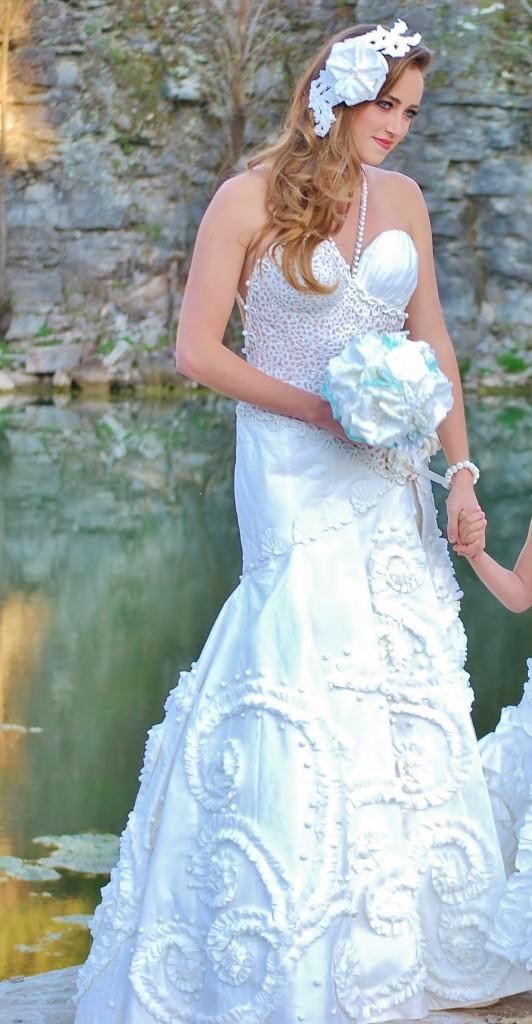 Toilet Paper Wedding Dress by Donna Vincler