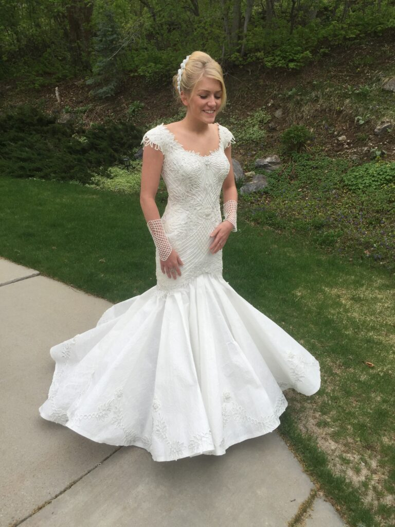 Toilet Paper Wedding Dress by Judith Henry