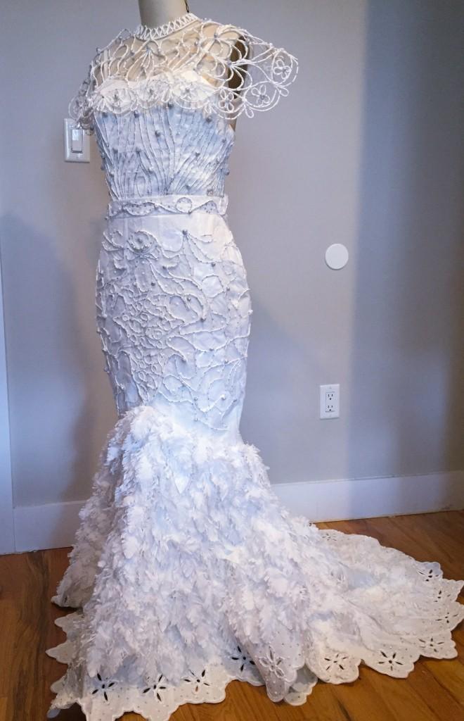 Toilet Paper Wedding Dress by Van Tran