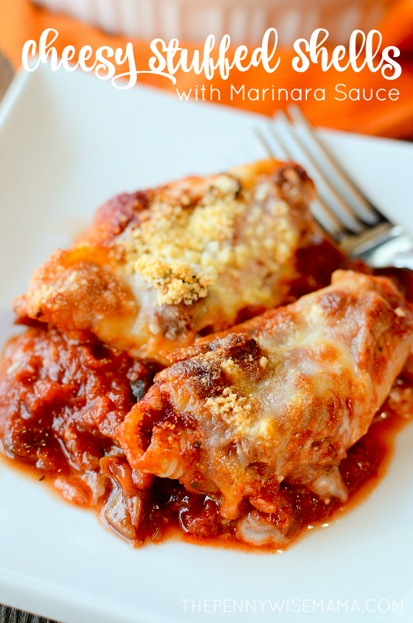 Cheesy Stuffed Shells with Marinara Sauce