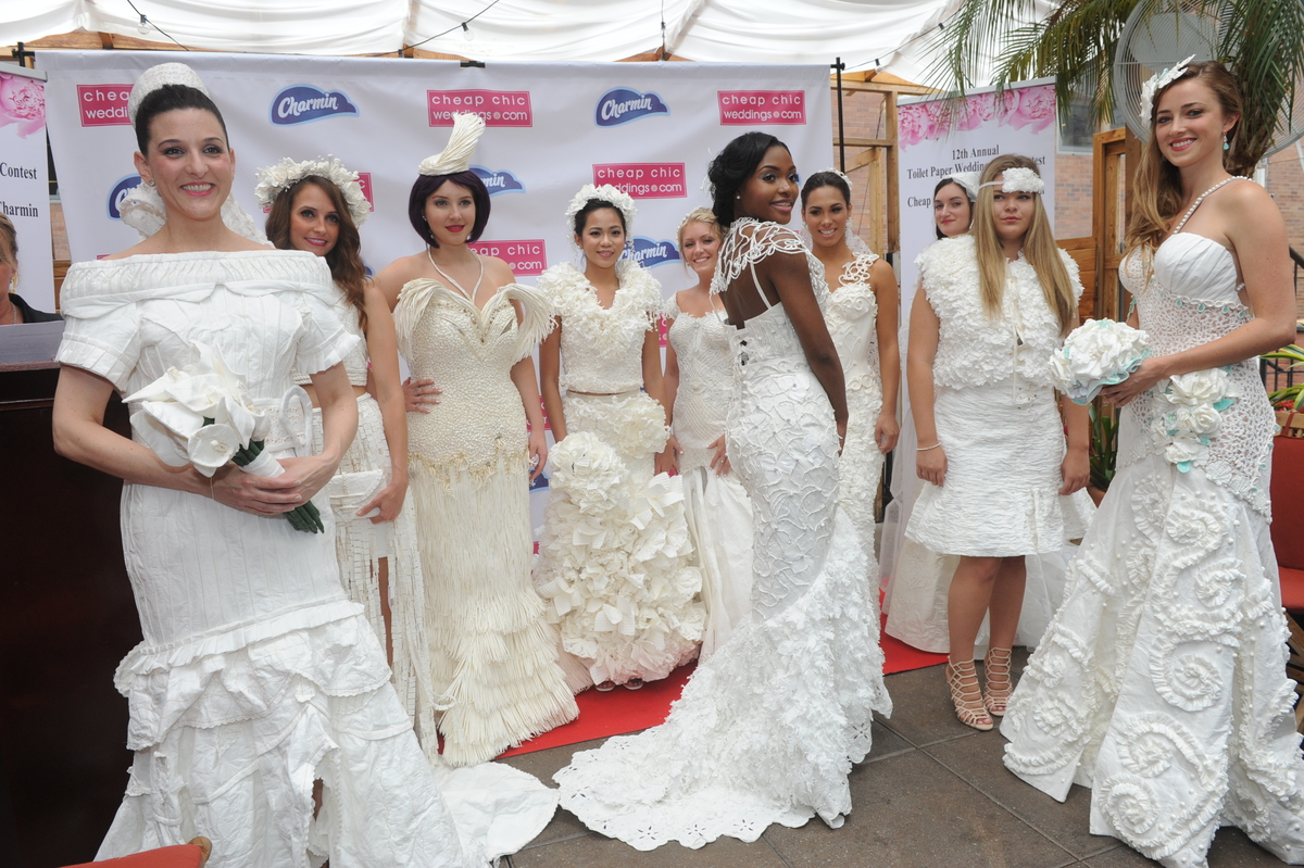 12th Annual Toilet Paper Wedding Dress Contest Winners The