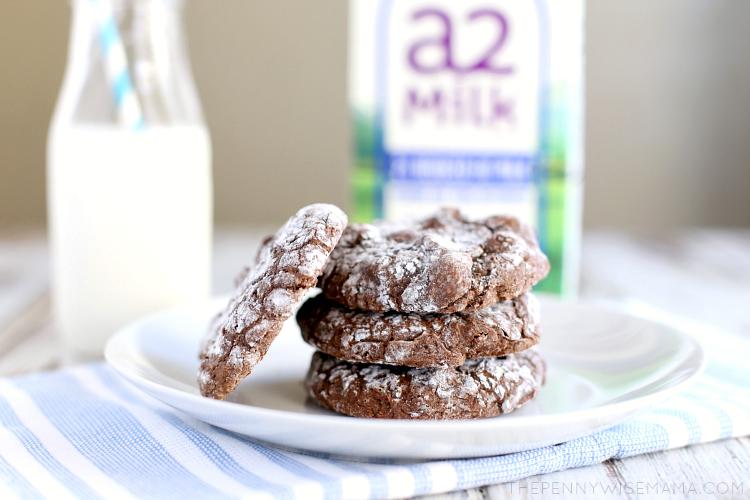 Brownie Crinkle Cookies with a2 Milk