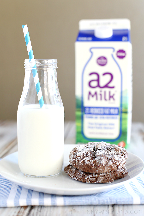 a2 milk and cookies
