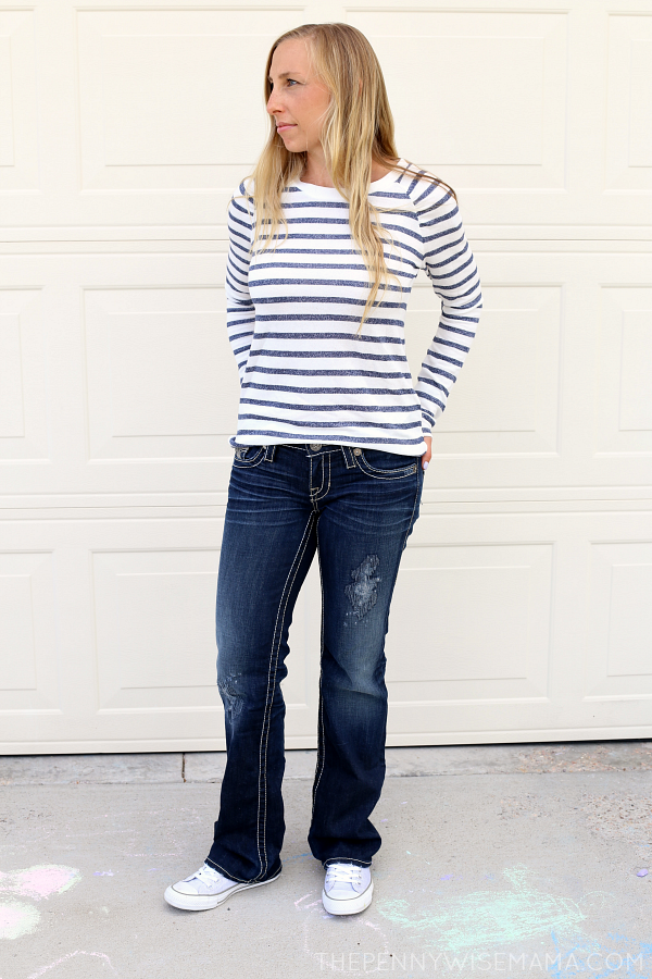 Sporty/Casual Fall Look - Forever 21 Sweater + Big Star Boot Leg Jeans